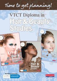 VTCT Diploma in Hair and Beauty Studies - Pearson Schools