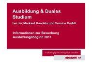 Ausbildung & Duales Studium - Markant Handels und Service GmbH