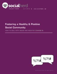 Fostering a Healthy & Positive Social Community