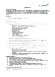 Job Description Business Centre Manager centrix ... - Langtree