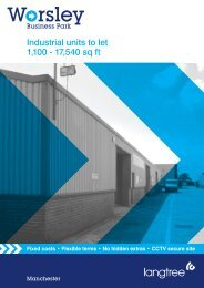 Industrial units to let 1,100 - 17,540 sq ft