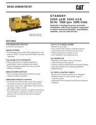 STANDBY 2400 ekW 3000 kVA 50 Hz 1500 rpm 3300 ... - Caterpillar