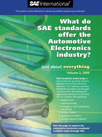 What do SAE standards offer the Automotive Electronics industry ...