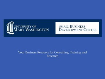 Your Business Resource for Consulting Training and Research