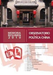 OBSERVATORIO POLÍTICA CHINA