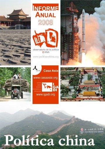 Política China 2008: Informe Anual - Observatorio de la política China