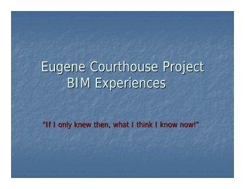 Eugene Courthouse Project BIM Experiences