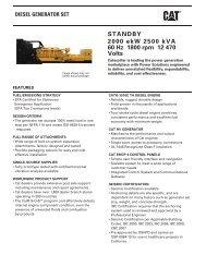 STANDBY 2000 ekW 2500 kVA 60 Hz 1800 rpm 12 470 ... - Caterpillar