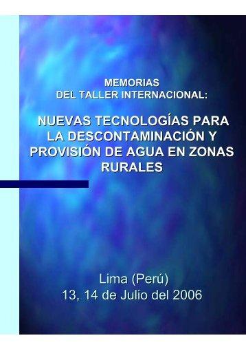 memorias del taller internacional - Red de Nanotecnología en el Perú
