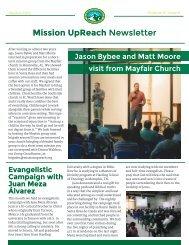 Mission UpReach Newsletter - August 2015