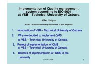 Implementation of Quality management system according to ISO ...