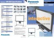 Power Supply AC 220-240 V, 50/60 Hz - Panasonic