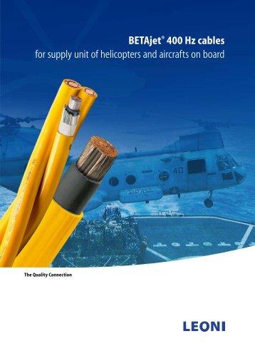 BETAjet® 400 Hz cables - Leoni