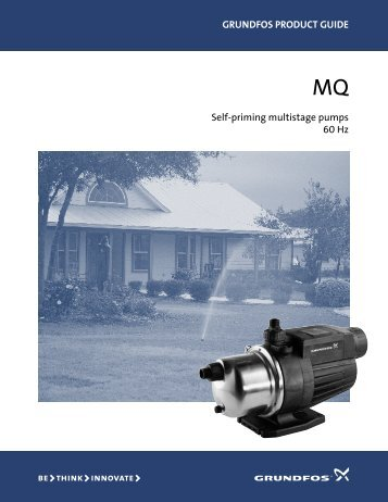 GRUNDFOS PRODUCT GUIDE Self-priming multistage pumps 60 Hz