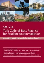 York Code of Best Practice for Student Accommodation