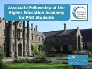Associate Fellowship of the Higher Education Academy for PhD Students