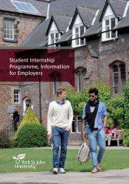 Student Internship Programme Information for Employers