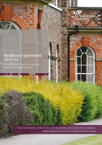 Residence Agreement 2013-14
