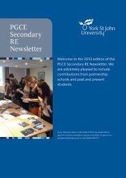 PGCE Secondary RE Newsletter