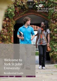Welcome to York St John University