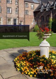 Appointment of Governors - York St John University