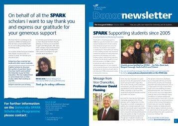 SPARK Donor Newsletter - York St John University