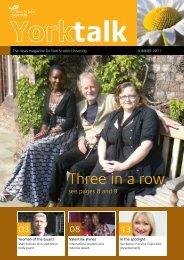 Summer 2011 issue (pdf) - York St John University