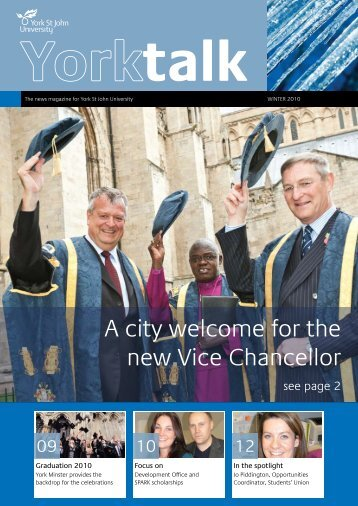 A city welcome for the new Vice Chancellor