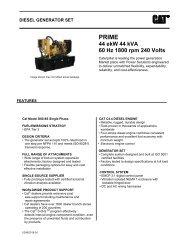 44 ekW 44 kVA 60 Hz 1800 rpm 240 Volts - Caterpillar