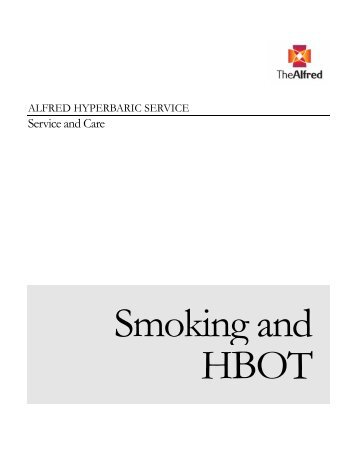Smoking and HBOT