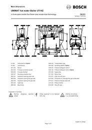 UNIMAT hot water Boiler UT-HZ