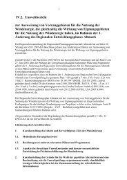 IV.2. Umweltbericht zur Ausweisung von Vorranggebieten für die ...