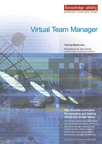 Virtual and Remote Team Management