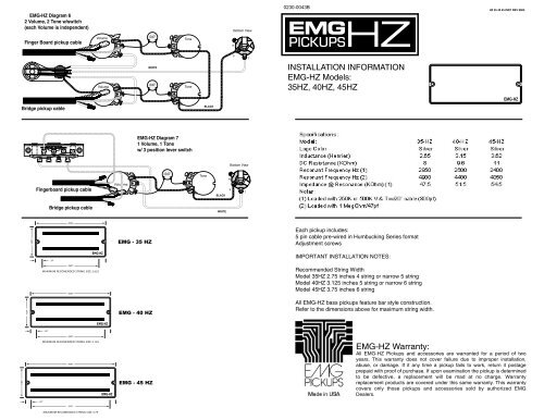 Emg Le Paul Wiring Diagram