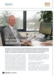 Opinie 'We zoeken de business actief op ook internationaal'