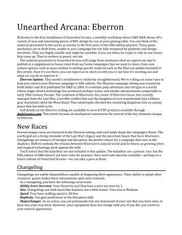 Eberron Magazines