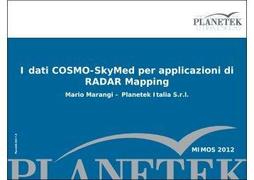I dati COSMO-SkyMed per applicazioni di RADAR Mapping - Mimos