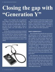 """Closing the gap with """"Generation Y"""" - Online Therapy Institute"""