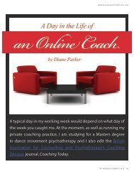 A Day in the Life of - Online Therapy Institute