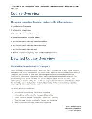 Course Overview Detailed Course Overview