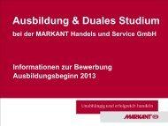 Ausbildung 2013 - Markant Handels und Service GmbH