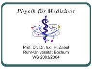 Physik für Mediziner - Ruhr-Universität Bochum