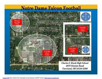 Notre Dame Falcon Football