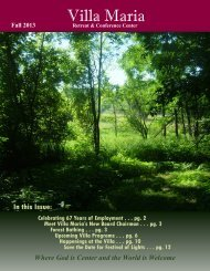 Newsletter - Villa Maria Retreat & Conference Center