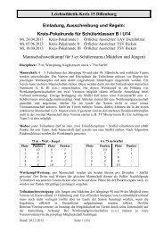 Einladung, Ausschreibung, Regeln - LA-Kreis Dillenburg