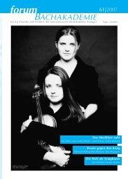 Grosse Aufnahmen mit - Internationale Bachakademie Stuttgart