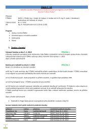 Zápis P ČMKU ze dne 26.4.2012