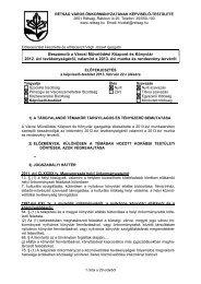 Beszámoló a Városi Művelődési Központ és Könyvtár 2012. évi ...
