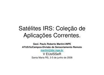 Satélites IRS - DGI - Inpe