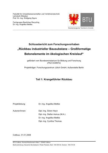 Rückbau industrieller Bausubstanz – Großformatige Betonelemente ...